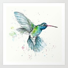 Hummingbird Flurry Art Print