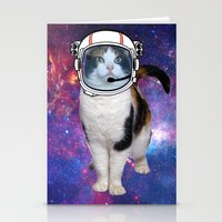 space cat Stationery Cards featuring Space cat by S.Levis