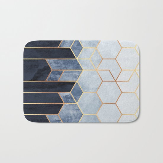 Soft Blue Hexagons by elisabethfredriksson