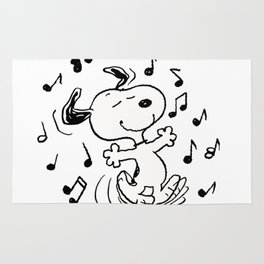 Dancing Snoopy Rug