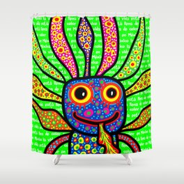 Mexicanitos al grito - Alexbrijin Shower Curtain