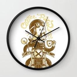 Coffee Racer Wall Clock
