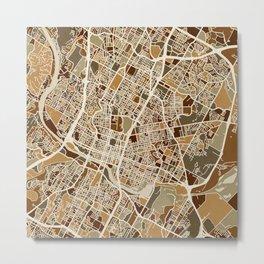 Austin Texas City Map Metal Print