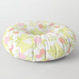 Garden of Power, Wisdom, and Courage Pattern Floor Pillow