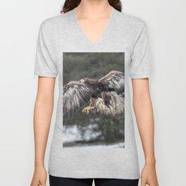Eagle In The Snow. Unisex V-Neck