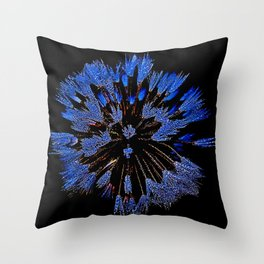 Dew On Dandelion, Wild Mandala Throw Pillow