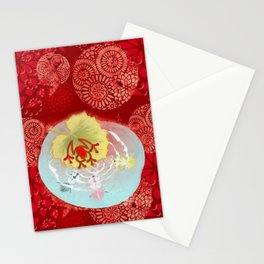 RedFrog at the Koi Pond Stationery Cards