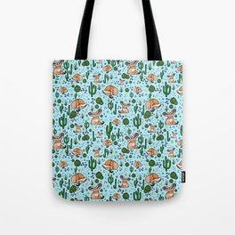 Cute Desert and Fennec Fox Pattern Tote Bag