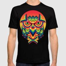 Owl 3 Mens Fitted Tee MEDIUM Black