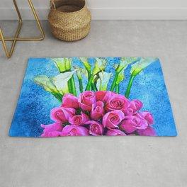 Calla Lillies and Roses Rug