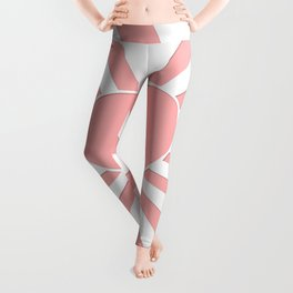 Pink Coral Valentine Love Heart Explosion Leggings