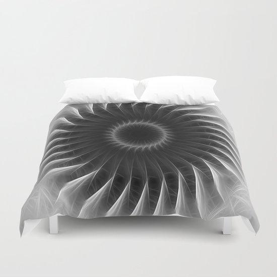 Gray Kaleidoscope Art 4 Duvet Cover