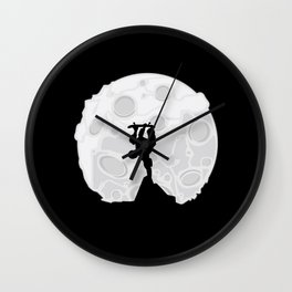 Skater Moon Wall Clock