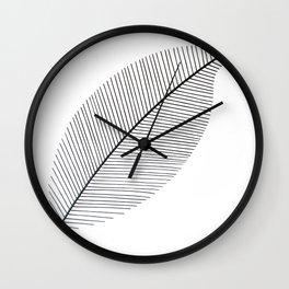 Leaf minimalism decor | black and white minimalism | Magnolia inspired designs Wall Clock