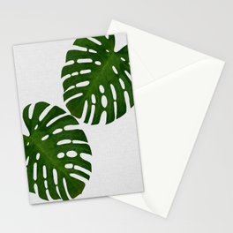 Monstera Leaf II Stationery Cards