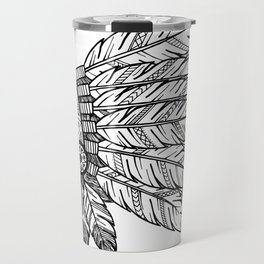 Native Warrior Travel Mug