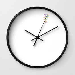 Pansexual Streetwear design Graffiti Hand Drawn Symbol Wall Clock