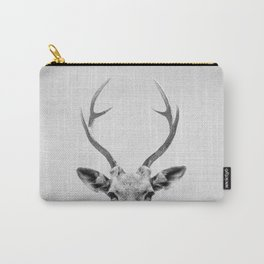 Deer - Black & White Carry-All Pouch