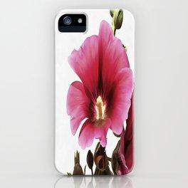 Pink Hollyhock iPhone Case