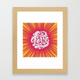Love Thorns Framed Art Print