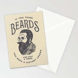 If You Think Beards are Just a Trend You Need a History Lesson Stationery Cards