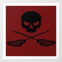 lacrosse Art Prints featuring Lacrosse by Beastie Toyz