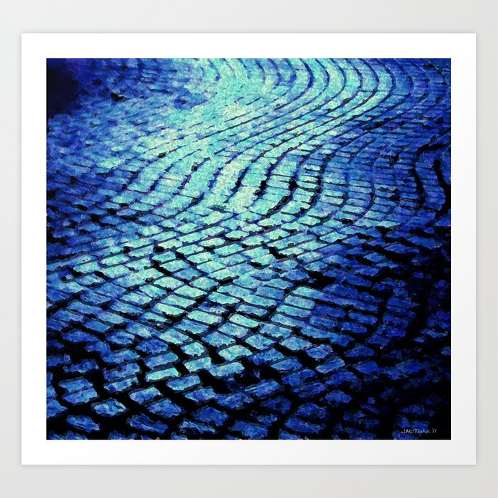 Blue Avenue Art Print