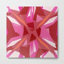Abstract Rubi Metal Print
