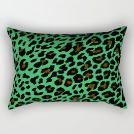 Emerald Cheetah Print Rectangular Pillow