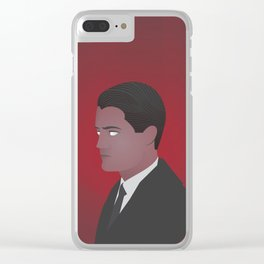 Twin Peaks - minimalist Audrey Horne Clear iPhone Case