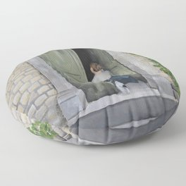 Going In and Out Floor Pillow