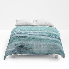 Mystic Stone Aqua Teal Comforters