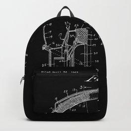 Headphones Patent - White on Black Backpack