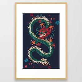 Dragon of Flowers Framed Art Print