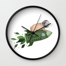 space pig Wall Clock