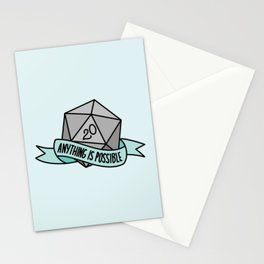 Anything is Possible D20 Stationery Cards