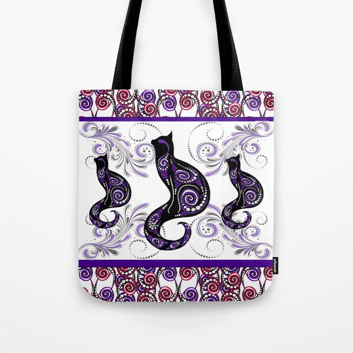Swirly Cats Tote Bag