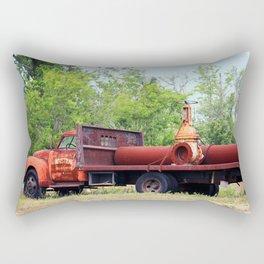 Rusty Old Work Truck Rectangular Pillow