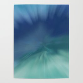 Blue meets Green Abstract Poster