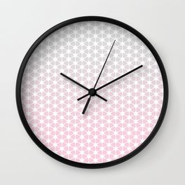 pink and grey pattern Wall Clock