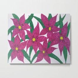 Ultra Violet Lily Bouquet Metal Print