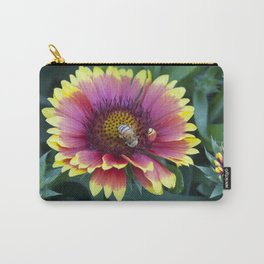 Red Sunflower with working Bee Carry-All Pouch
