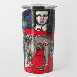 Te sphynx galaxy Queen Travel Mug