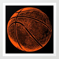 basketball Art Prints featuring Basketball by C Liza B
