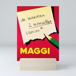 old placard maggi de nouveau 2 nouvelles sauces Mini Art Print