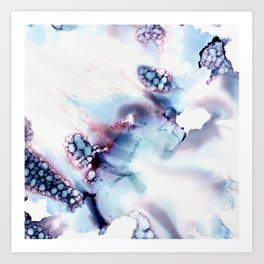 Alien Repose Bubble Storm Abstract Art Print
