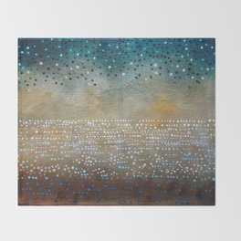 Landscape Dots - Turquoise Throw Blanket