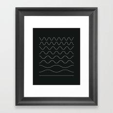 between waves Framed Art Print
