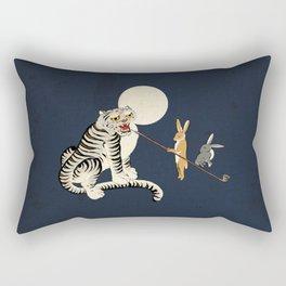 Minhwa: Tiger and Rabbits A Type Rectangular Pillow