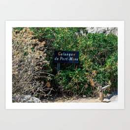 Calanques near Cassis in a summer day Art Print